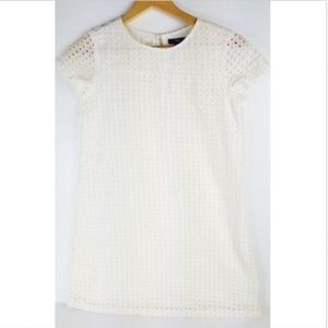 GapKids Dress XXL Off-White Eyelet Lace Lined